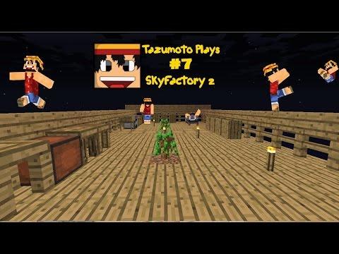 Minecraft - Tazumoto Plays - Skyfactory 2 - Episode 7 - Flint Axe
