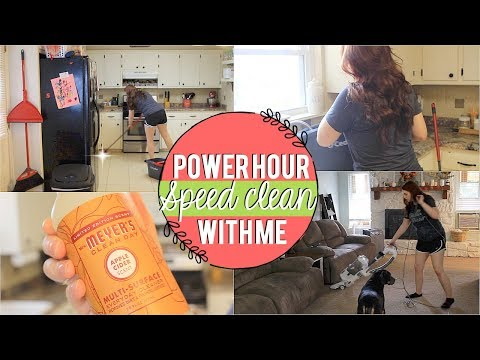 SPEED CLEAN MY HOUSE WITH ME | POWER HOUR SPEED CLEANING | SPEED CLEANING MOTIVATION | NAOMI ROSE