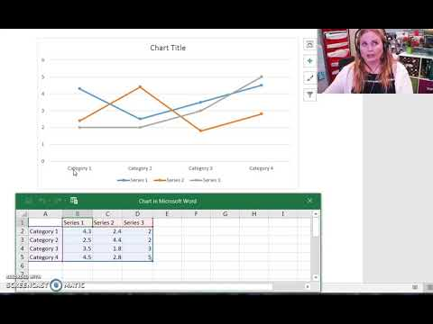 WCA:  How to make a line graph in WORD
