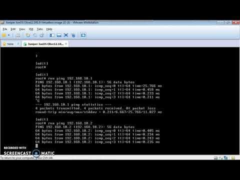 Juniper DHCP basic configuration.