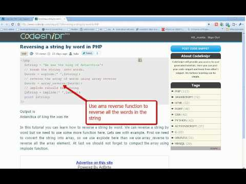 PHP Tutorial String  By Word