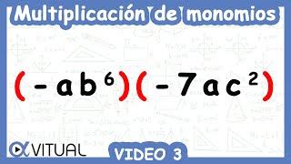 Multiplicación De Monomios Ejemplo 3