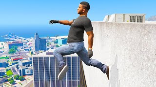 GTA 5 Jumping off Highest Buildings #14 - Funny Moments & Fails