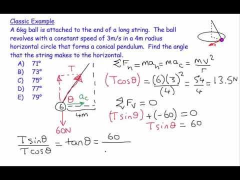 6) Circular Motion 3 (Conical Pendulum) - numerical