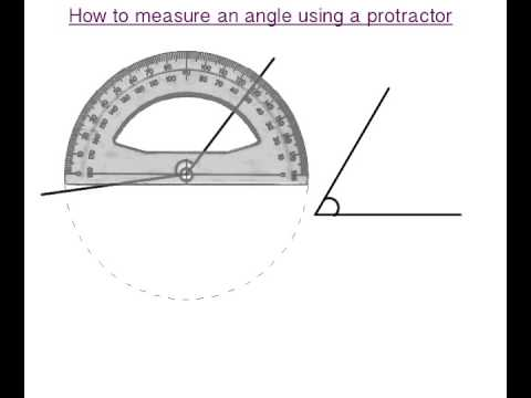 How to measure angles using a protractor - why does it have two sets of measurements?