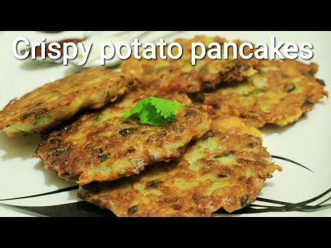 Pancake recipe - Potato pancake - Cheesy potato pancakes - Potato pancake recipe