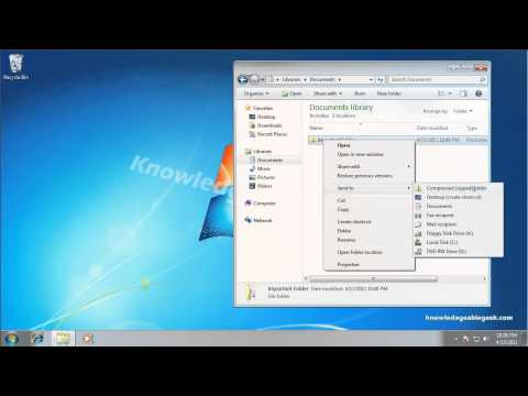 How to Zip a File or Folder in Windows 7
