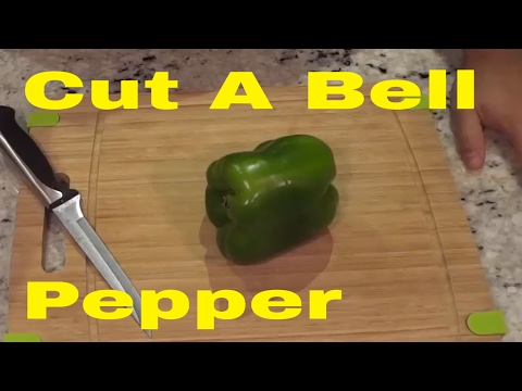 How To Cut A Bell Pepper (EASIEST Method)-Tutorial