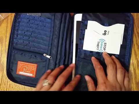 Travel Wallet - Document Organizer - Passport / Ticket / iPad Mini Holder - Travel Accessories