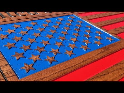 Make a Wooden American Flag