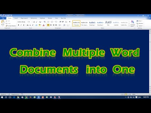 Combine Multiple Word Documents into One
