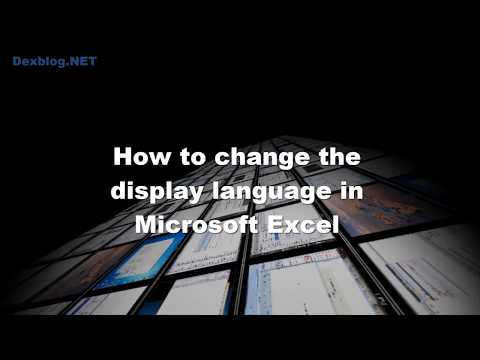 How to change the display language in Microsoft Excel