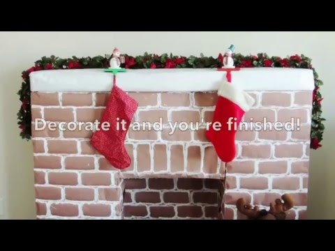 How To Make a Faux Fireplace with Mantle for Christmas!