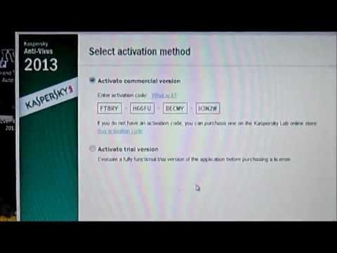 Kaspersky 2013 Activation Code