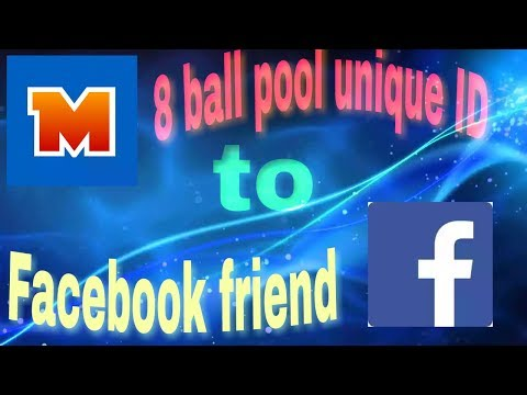 8 ball pool unique ID to Facebook friends by nice one