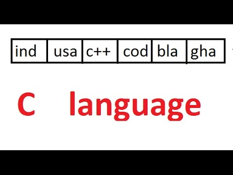 array of strings in c & matrix of strings in c with example