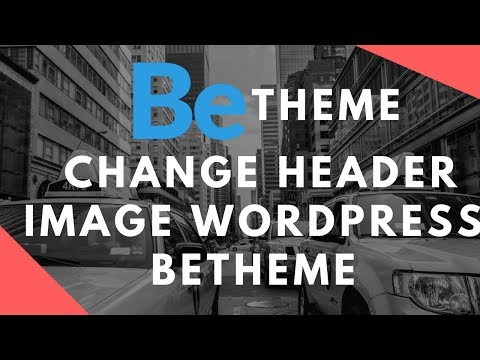 How to change header image wordpress betheme