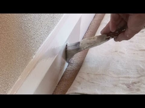 How To Paint Baseboards or Skirting Boards On Carpet (The Trick to doing it)