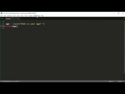 Python Programming Series (Input and Output 3): Keyboard input