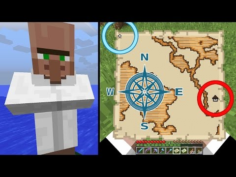 Minecraft Exploration Maps - How to Find, How to Use (Woodland Mansion, Ocean Monument)
