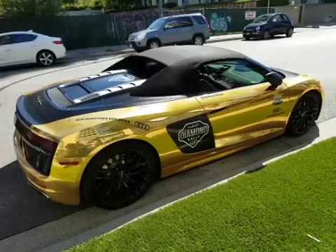 2018 Hublot Diamond Ralley Vancouver Gold Audi R8