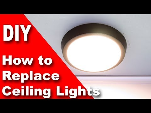 Replace old ceiling light fixture with $30 modern LED