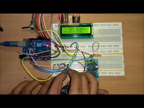 Arduino Digital Alarm Clock Circuit