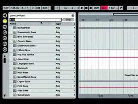 Ableton: Playing with Software Instruments