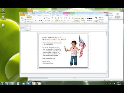 How to Embed a Graphic with a Hyperlink in Outlook 2010