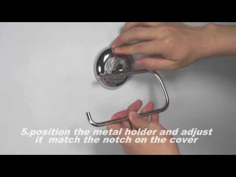 MaxHold suction cup toilet paper holder installation instructions
