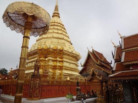 A Walk Around Wat Phra That Doi Suthep Near Chiang Mai, Thailand.