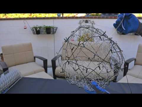 DIY How to Make LED Lighted Christmas Balls