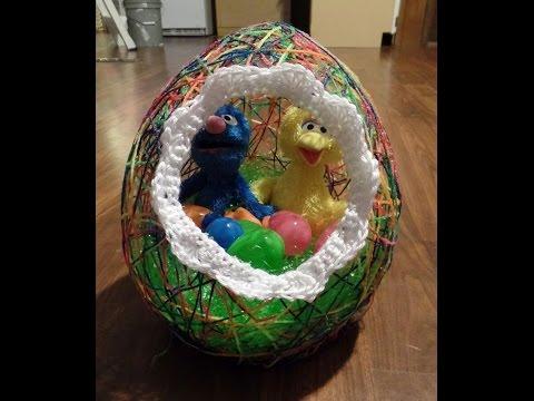 DIY Yarn Easter Egg Basket Easy #TUTORIAL #221 LEARN CROCHET
