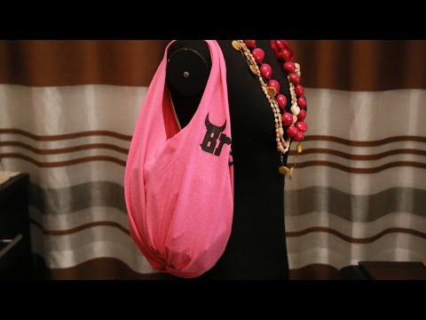 How To Make a Tote Bag From Old Tshirt - DIY DIY Tutorial - Guidecentral