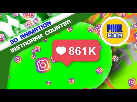 Green Screen Instagram Red Icon Counter Notification - PixelBoom Animations