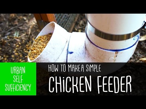 How to make a Simple Chicken Feeder