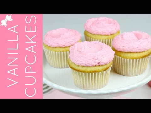 How To Make THE BEST Easy Vanilla Cupcakes from Scratch // Lindsay Ann Bakes