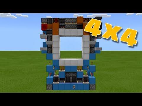 Minecraft PE 4x4 WORKING DOOR! (PE/Xbox/Windows10/Switch)