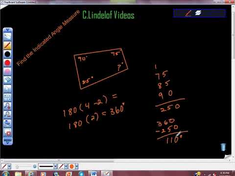 Geometry Find the Indicated Angle Measure