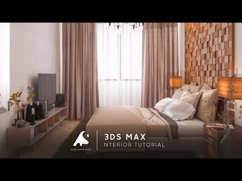 3Ds Max 2016 Bedroom Light Modeling Tutorial Design