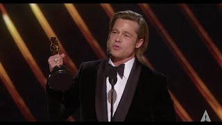 Brad Pitt Wins Best Supporting Actor
