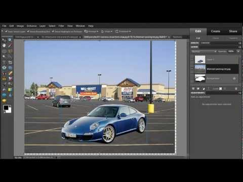 Photoshop Elements 10 - Remove Image Background with Quick Select Tool