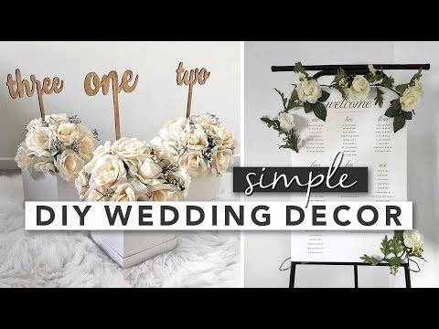 Simple DIY Wedding Decor | Centerpieces, Signs, Party Favours