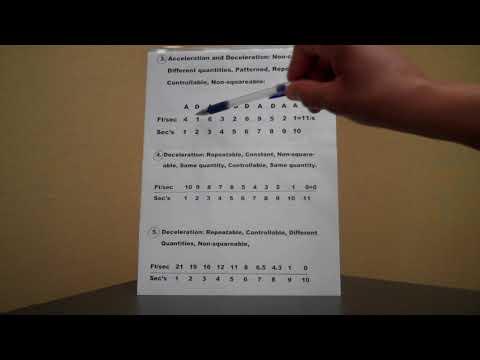 ACCELERATION and DECELERATION: How to grasp a few basics