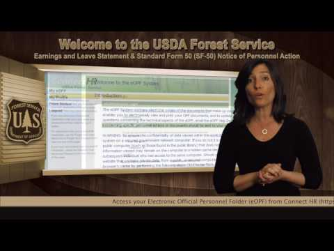 Welcome to the Forest Service New Employee Orientation: Earnings & Leave and SF-50
