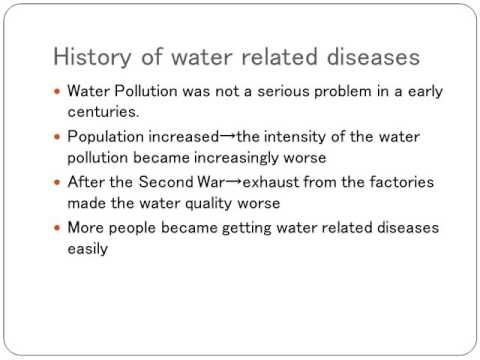 Diseases caused by Water Pollution