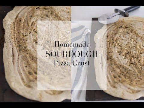 Easy Homemade Sourdough Pizza Crust- Sourdough Recipes