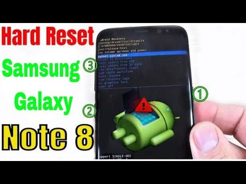 Hard Reset Samsung Galaxy Note 8   Note 8 Plus Without Box