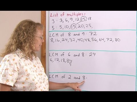 The least common multiple - introduction