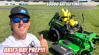 My First Time Cutting the Freedom Factory's NEW GRASS!! + Prepping to Drift the Asphalt Renovations!
